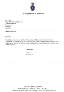 High Sheriff Letter